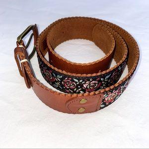 LUCKY PENNY Leather Boho Rose Belt
